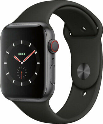 Apple Watch S4 Cellular 44mm 16GB Space Grey - Aluminium Case - Black Band UK