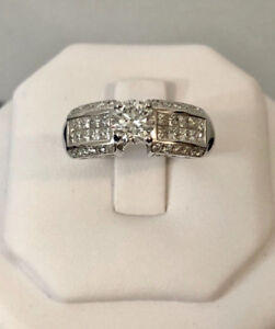18k gold 1.51ct. diamond engagement ring//Certified at $12,250, used for sale  Toronto