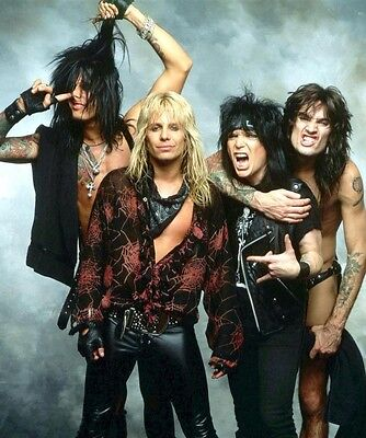 MOTLEY CRUE ROCK BAND GROUP 8X10 PHOTO VINCE NIKKI MICK TOMMY