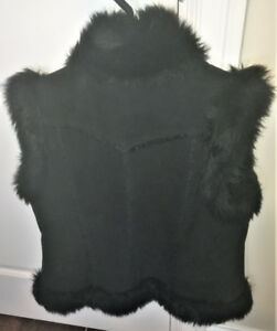 Express Faux-Fur Lined Suede Leather Vest