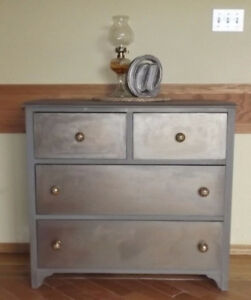 4 drawer copper metalic dresser with Anthropologie knobs