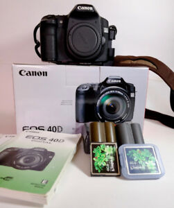Canon EOS 40D, EF 50 f1.4 lens and assorted accessories
