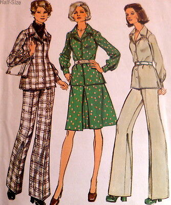 LOVELY VTG 1970s DRESS TOP PANTS Sewing Pattern BUST 45