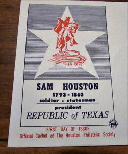 1964 Sam Houston 5 Cent First Day Cover Kitchener / Waterloo Kitchener Area image 2