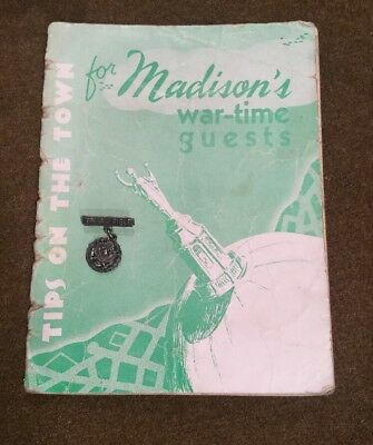 WW2 Booklet & Sterling Pin Truax Field Madison Wisconsin Army Air Forces Corp