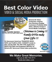 Video & Film Transfers to DVD and MP4