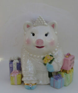 MUD PIE WEDDING FUND PIGGY BANK