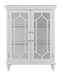 NEW! 2 Door White Floor Cabinet / Display