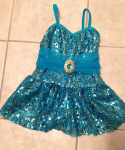Blue sequined ballet costume size 4-5