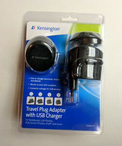 New Kensington Travel Plug Adapter with USB Charger Kit