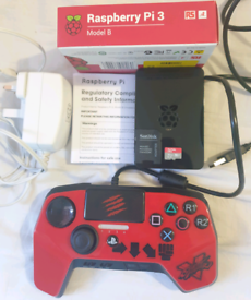 Raspberry Pi 3B Arcade Console with 1 Controller