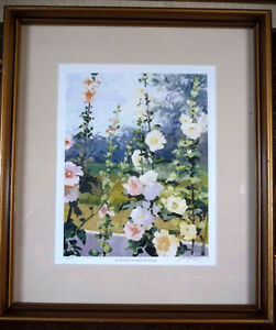 "Hand S/N by Peter Etril Snyder ""Hollyhocks By The Fence"" 16/500"