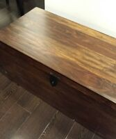 Solid Wood Table from The Brick, Large Storage Trunk