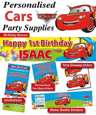 Cars Lightning McQueen Birthday Party Banner Decorations - Lightning Mcqueen Birthday Decorations