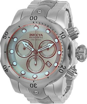 25043 Invicta Reserve Venom Men 53mm Swiss Quartz Chronograph SS Bracelet Watch