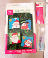 DIMENSIONS SANTA SNOWMAN Ornaments - Punch Needle Embroidery K