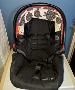 Pink carseat