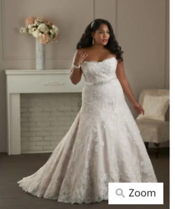 18w champagne lace wedding dress. Never worn