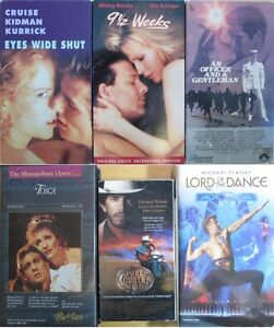 6 MOVIES ON VHS