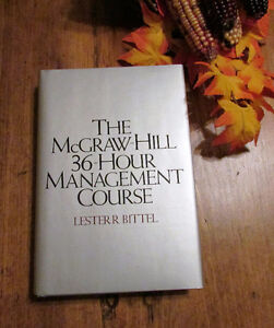 "McGraw-Hill 36-Hour Management Course - ""Mint"" Hard Cover Book"
