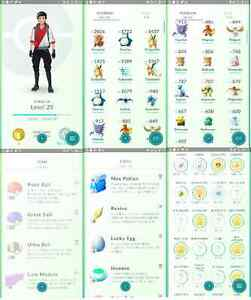 Selling level 25 Pokemon Go Accounts! 200k Stardust | 3 high CP