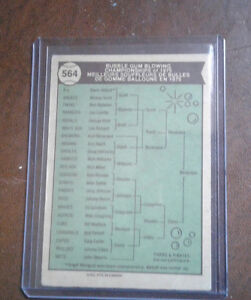 1975 bubble gum blowing champ baseball card Windsor Region Ontario image 2