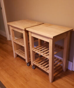 2 Ikea Kitchen Carts for Sale