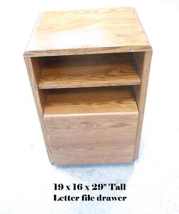 Light Brown Letter SIze File Cabinet with shelf Night Table