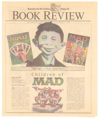 Completely Mad Review In 1991 Los Angeles Times Book Review   E C  Comics