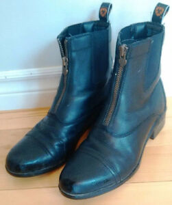 Ladies Ariat Heritage Zip Boots - Size 9.5 - Black