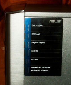 ASUS M32BF-DH02 - tower - A10 7800 3.5 GHz - 8 GB - 1 TB