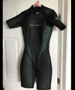 Oneill Womens Wetsuit Shorty Size 10