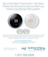 Free NEST Thermostat &  2 Nest Protect with furnace install