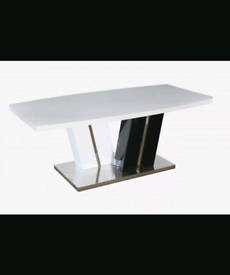 Brand New Super White Gloss Coffee Table