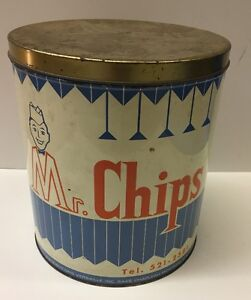 Vintage Mr. Chips Tin