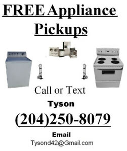 Free Appliance Pick Up!!