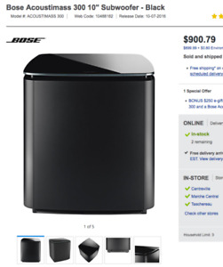 "new Bose Acoustimass 300 10"" Subwoofer neuf"