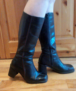 Gently Used Black Leather Boots