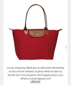Sac Longchamp rouge - Le pliage Small