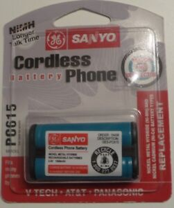 New GE Sanyo  Cordless Phone NiMH battery PC615 For AT&T V-Tech