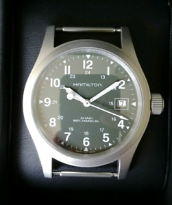 Hamilton Khaki Field Mechanical green dial