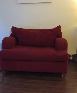 Free Loveseat and 2 person couch.
