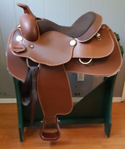 """New 15"""" Circle P Lami Cell Synthetic western saddle"""