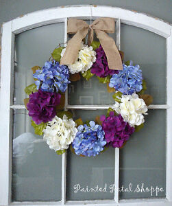 Periwinkle/Plum/Ivory Hydrangea Wreath/Easter/ Wedding Wreath Belleville Belleville Area image 2