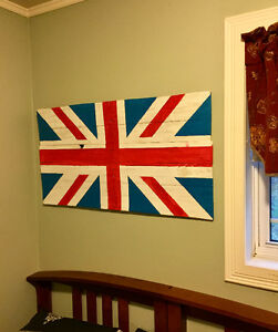 Rustic Handcrafted Union Jack