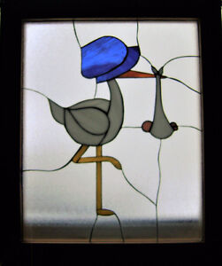 COLOURFUL HANDCRAFTED STAINED GLASS PC. to WELCOME BABY !