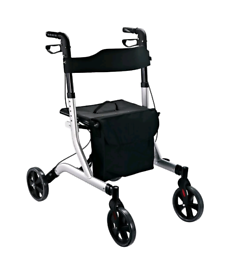 HOMCOM Rollator Lightweight 4 Wheels Walker Mobility Disability Aid