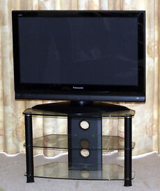Panasonic 37PC70B Flat Screen Plasma TV & 2-Tier Stand. Collection Only from St Neots.