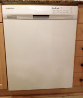 White Samsung dishwasher