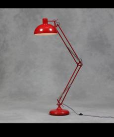 6ft, red, retro, floor lamp